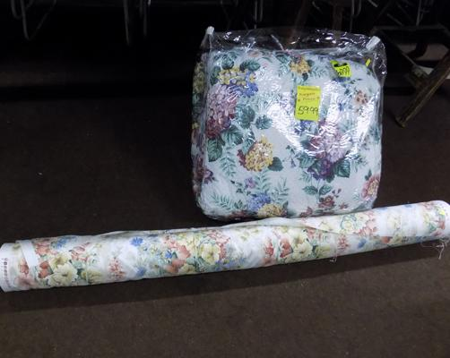Floral roll of material and cover