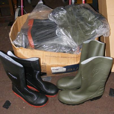 Nine pairs of new steel toe capped wellington boots - various sizes