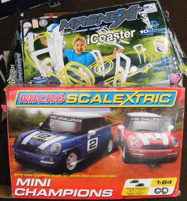 Micro scalectric 'Mini Champions' and Magnext set - as seen