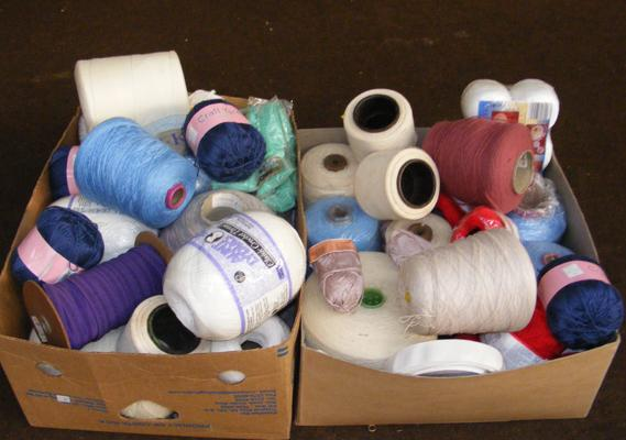 2x Boxes of yarn