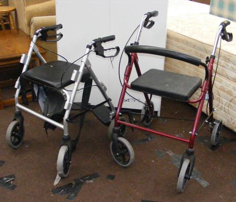 2x Disability walkers with brakes