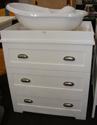 White baby changing unit (unused/ex display)