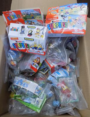 Large quantity of Kinder Egg collectable toys