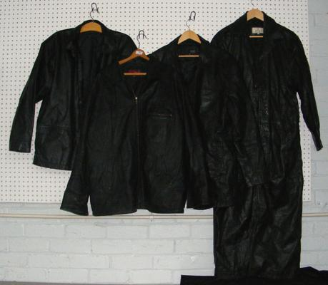 Four gents leather jackets