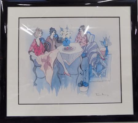 Large Seriolithograph 'Blissfull Moments' Tarkay Itzchak 2007, 16.5 x 21 inches, incl. certificate of authenticity