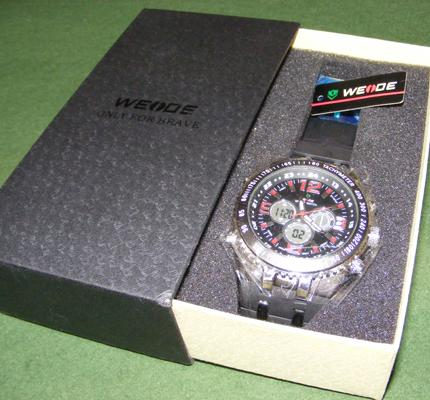 Weide large face watch with red numbers