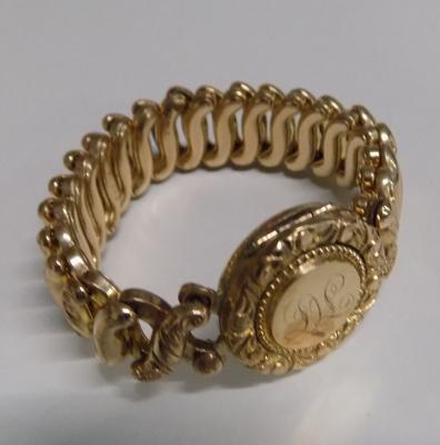 Victorian bracelet with gold signature face