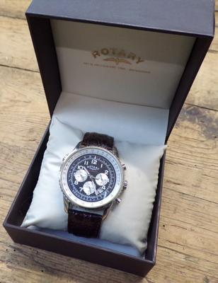 Men's rotary chronograph watch W/O