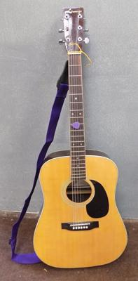 Acoustic guitar - 'Lorenzo' - slight dent in top of body