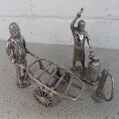 Royal Hampshire 'Figures', silver on Pewter, blacksmith set etc.