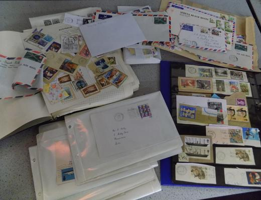 Box of collectable stamps & first day covers