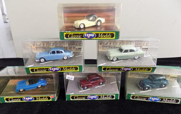 6 x Corgi Classic cars, all boxed