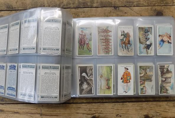 40 pages of mixed cigarette cards, incl. V.C. Heroes
