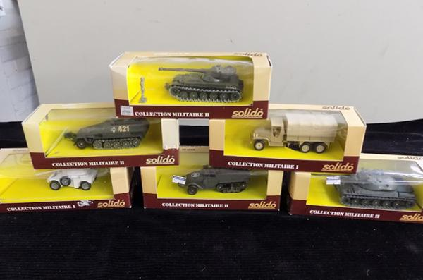 6x Solido military vehicles, all boxed