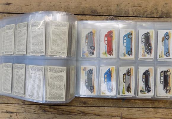 40 pages of mixed cigarette cards