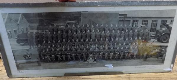 Framed military photo