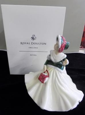 Royal Doulton pretty ladies Christmas Day 2008 with display box-no damage found