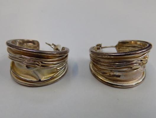 Pair of quality silver earrings
