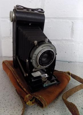 Kodak Brownie six 20 folding camera and original case circa 1920