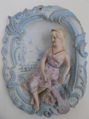 1920's hanging porcelain plaque