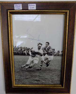 Original autographed photo of 'Berwyn Jones' the Rugby League player - framed