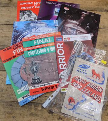 Rugby League programmes incl. 1947 test match