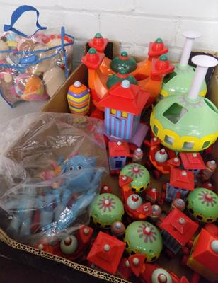 Large amount of 'In The Night Garden' -trains/figures/soft