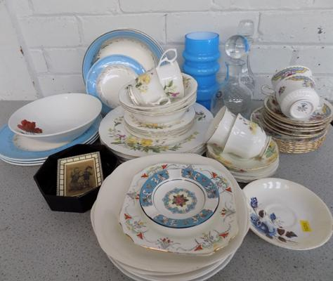 Box of mixed ceramics, incl. Royal Stafford & Wedgwood