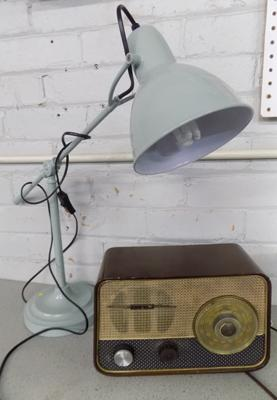 Vintage Ultra radio & angle poise lamp