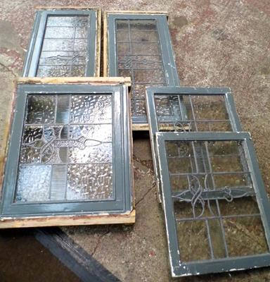 5 x leaded glass windows