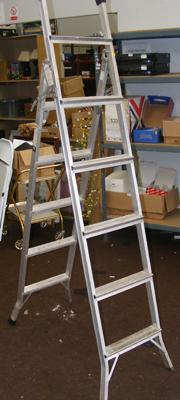 Pair of decorators aluminium 3 way ladders