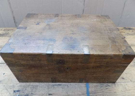 Victorian wooden writing box