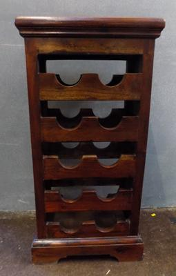 Freestanding solid wood wine rack