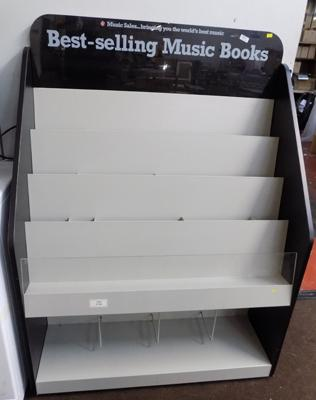 Record/book retail display stand