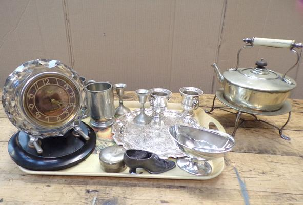 Masak USSR clock and metal ware items
