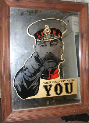 'Your country needs you' mirror/ picture