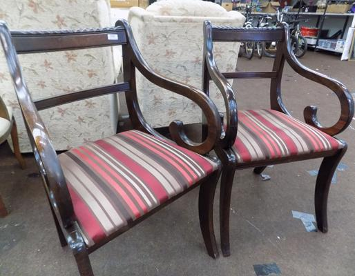 Pair of dining/reception chairs