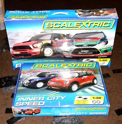 2x Boxed Scalextric sets