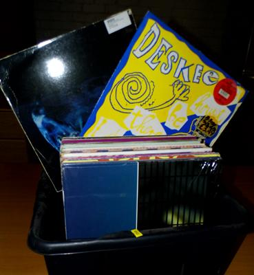 Box of dance records