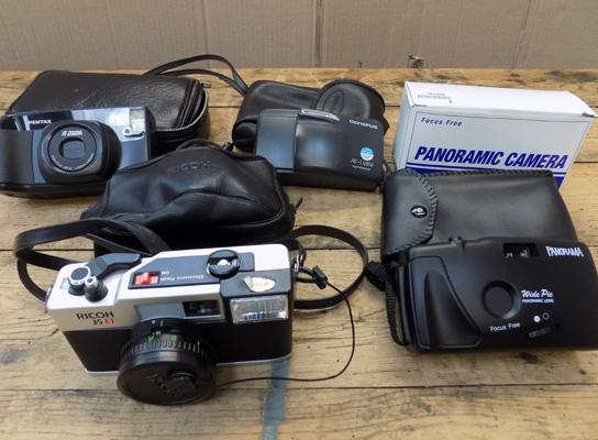 Box of compact film cameras