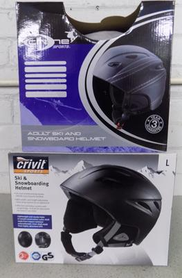 2 new boxed snow helmets