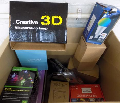 Box of new & unused lighting products