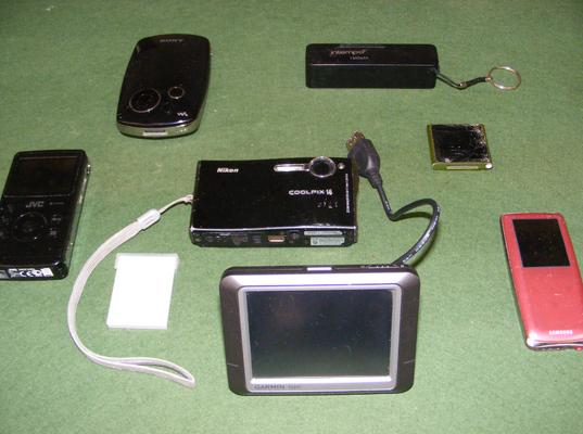 JVC HD memory camera W/O with other items