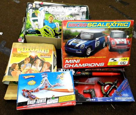 Selection of toys and games incl. micro scalextric etc.