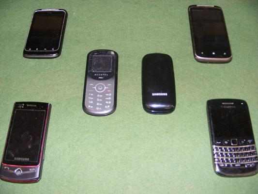 Six working mobile phones