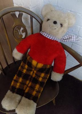 1950's Merry Thought Rupert Bear - 27 inches tall