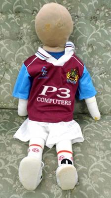 Vintage child mannequin with Burnley Football kit