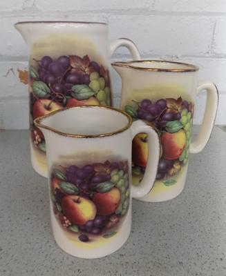 3x Staffordshire ceramic jugs - no damage found