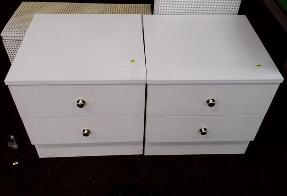 2 x 2 drawer bedside cabinets