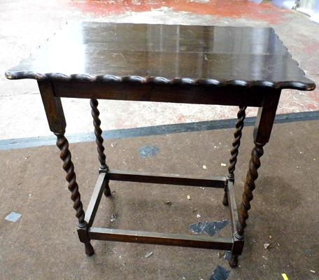 Barley twist legged table